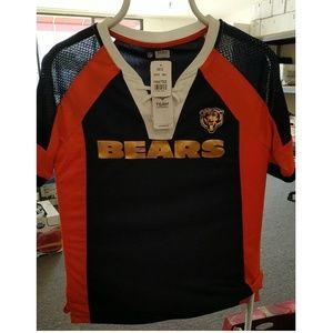 NFL Team Apparel CHICAGO BEARS V-Neck Jersey Shirt